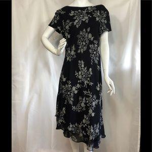 Black Evening Dress Donna Ricco size 16